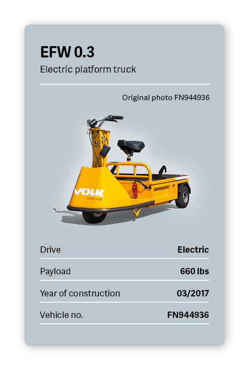 VOLK Electric platform truck EFW 0.3 Used