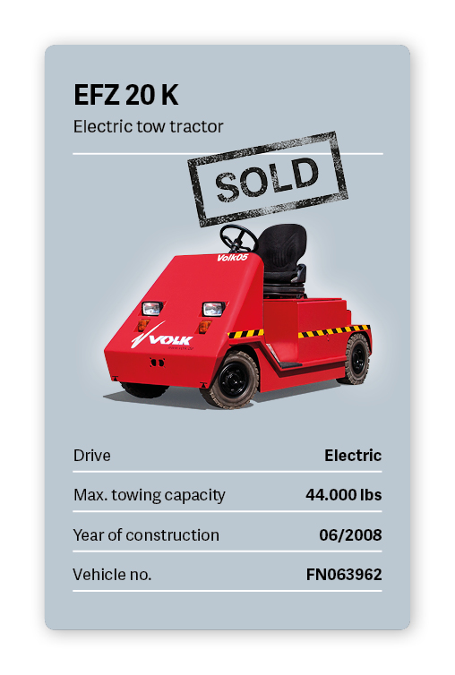 VVOLK Electric tow tractor EFZ 20 K Used