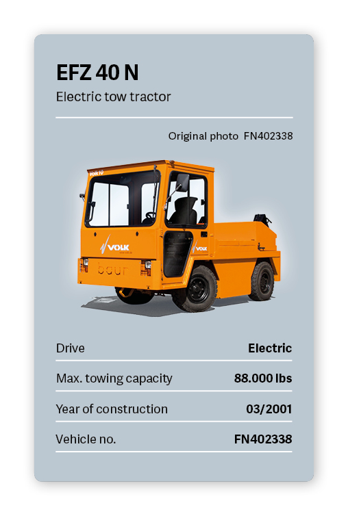VOLK Electric tow tractor EFZ 40 N Used