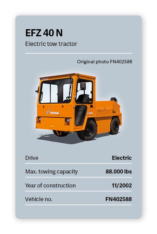 VVOLK Electric tow tractor EFZ 40 N Used