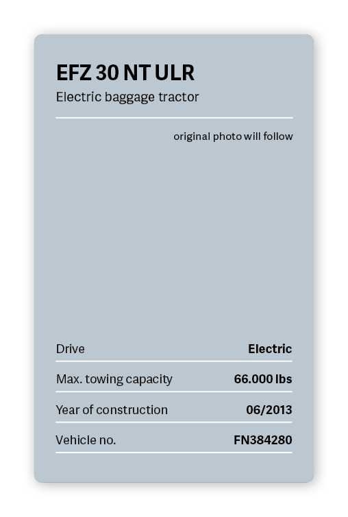 VOLK Electric baggage tractor EFZ 30 NT ULR Used