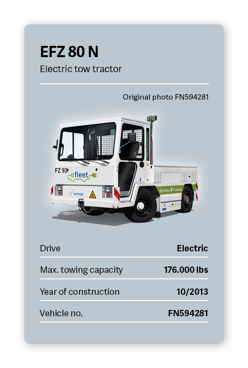 VOLK Electric tow tractor EFZ 80 N Used