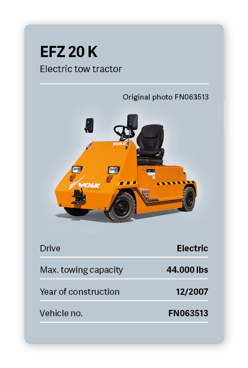 VOLK Electric tow tractor EFZ 20 K Used