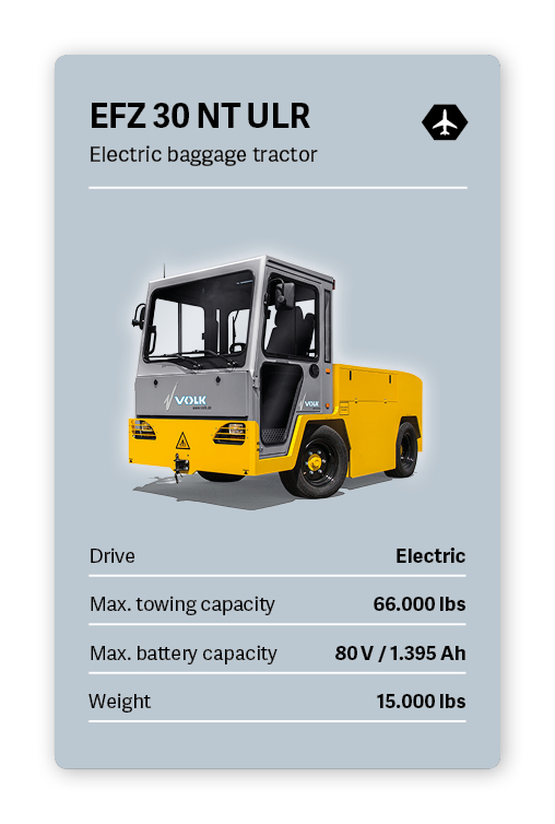 VOLK Electric tow tractor EFZ 30 NT Ultra Long Range