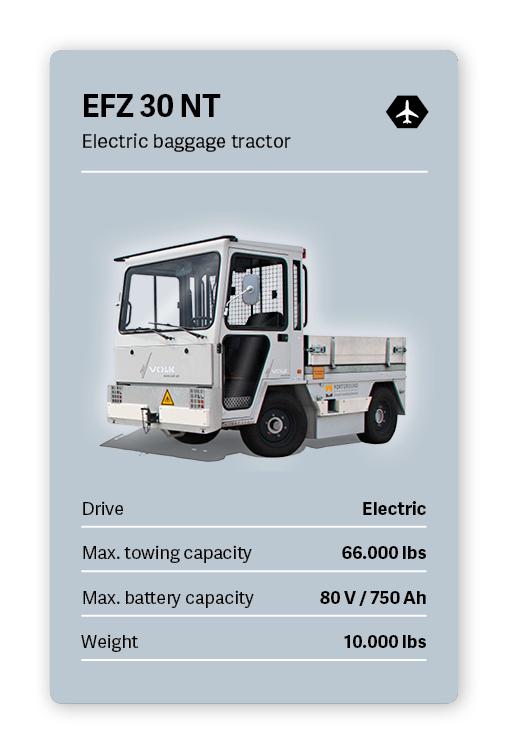 VOLK Electric tow tractor EFZ 30 NT