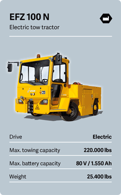 VOLK Electric tow tractor EFZ 100 N