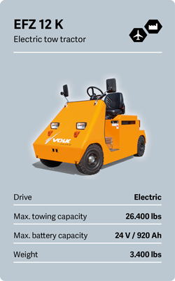 VOLK Electric tow tractor EFZ 12 K