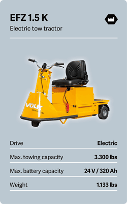 VOLK Electric tow tractor EFZ 1.5 K