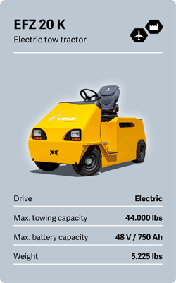VOLK Electric tow tractor EFZ 20 K