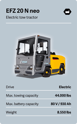 VOLK Electric tow tractor EFZ 20 N neo