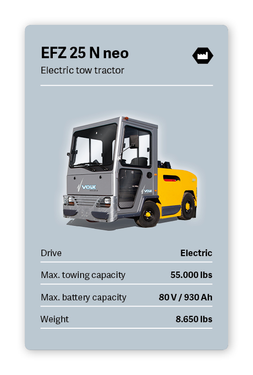 VOLK Electric tow tractor EFZ 25 N neo