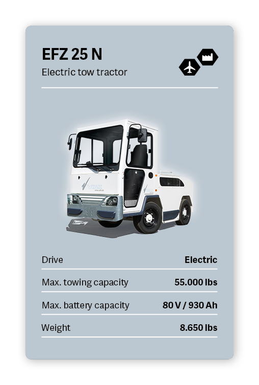 VOLK Electric tow tractor EFZ 25 N