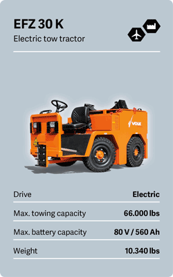 VOLK Electric tow tractor EFZ 30 K