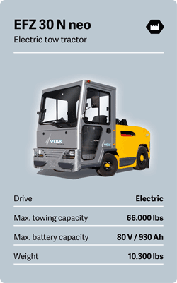 VOLK Electric tow tractor EFZ 30 N neo