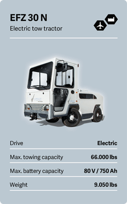 VOLK Electric tow tractor EFZ 30 N