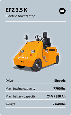 VOLK Electric tow tractor EFZ 3.5 K