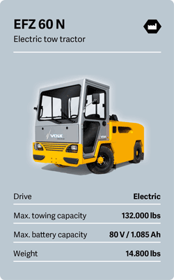 VOLK Electric tow tractor EFZ 60 N