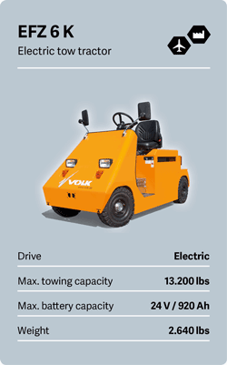 VOLK Electric tow tractor EFZ 6 K