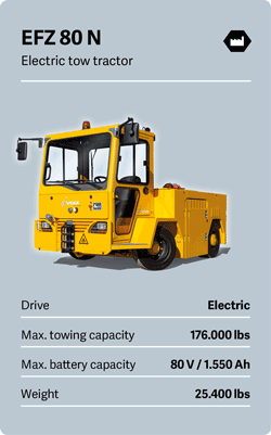 VOLK Electric tow tractor EFZ 80 N