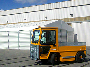 VOLK Electric Tow Tractors at Corus in South Wales