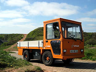 VOLK Electric Trucks on the island of Helgoland
