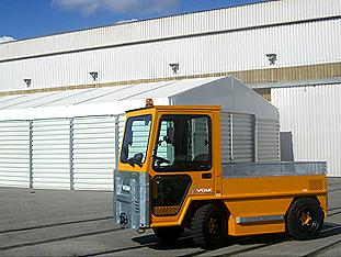 VOLK Elektrozugmaschinen bei Corus in South Wales