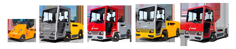 VOLK Zugmaschinen und Plattformwagen