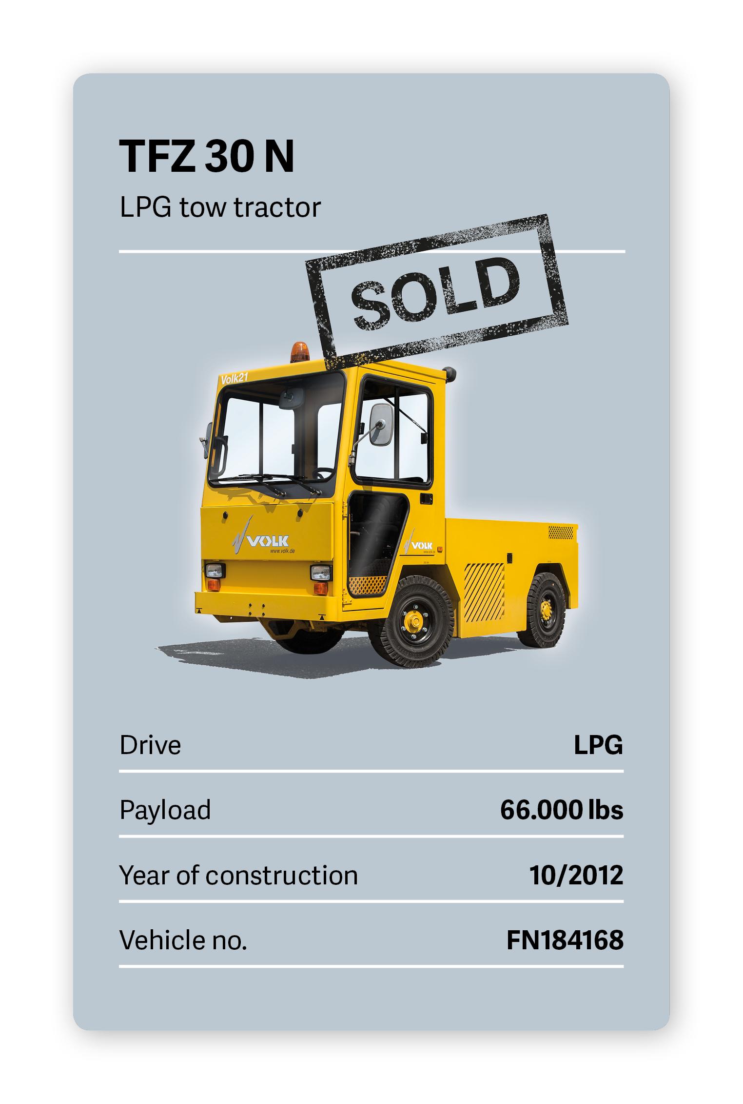 VOLK LPG tow tractor TFZ 30 N Used