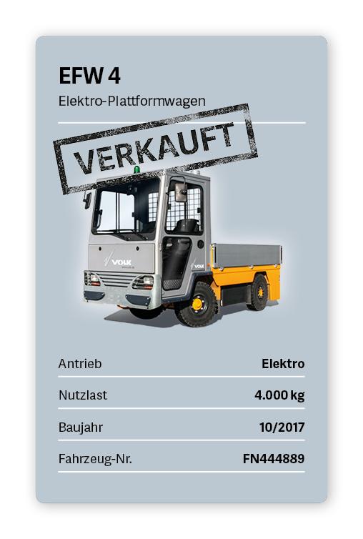 VOLK Elektro-Plattformwagen EFW 4 Gebraucht