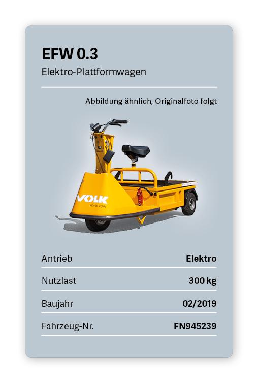 VOLK Elektro-Plattformwagen EFW 0.3 Gebraucht
