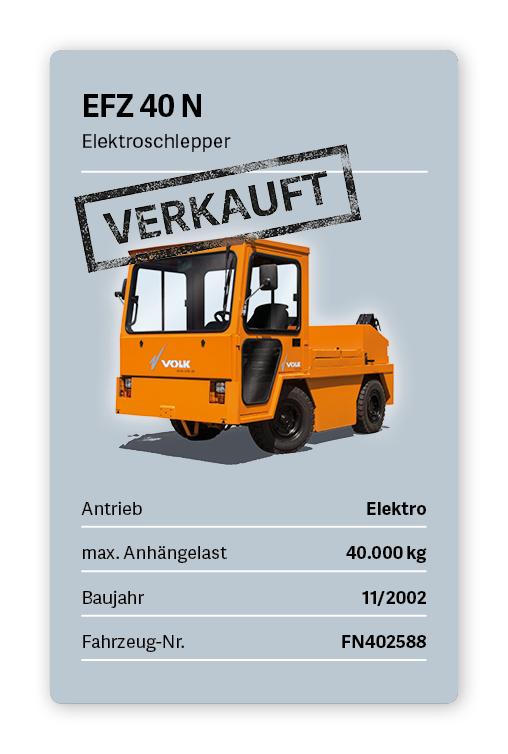 VOLK Elektroschlepper EFZ 40 N Gebraucht