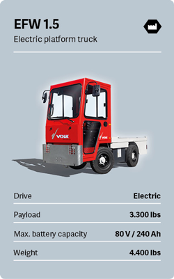 VOLK Electric platform truck EFW 1.5