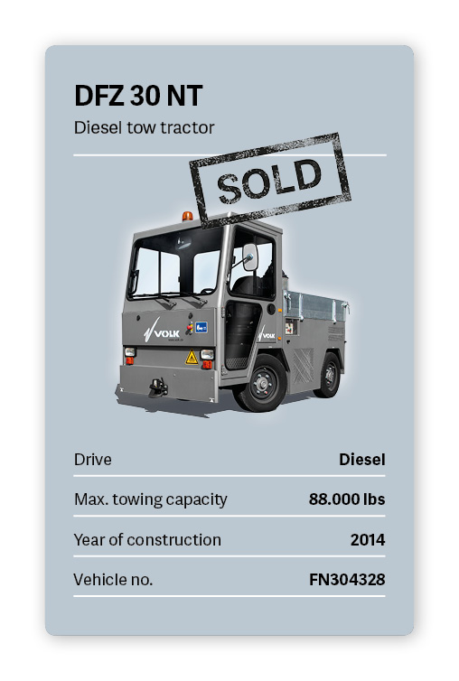VOLK Diesel tow tractor DFZ 30 NT Used