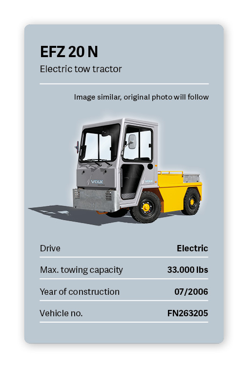 VOLK Electric tow tractor EFZ 20N Used