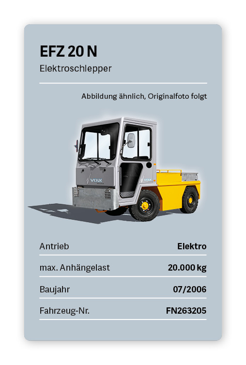 VOLK Elektroschlepper EFZ 20 N Gebraucht