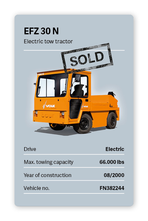 VOLK Electric tow tractor EFZ 30 N Used