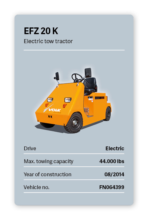 VOLK Electric tow tractor EFZ 20K Used