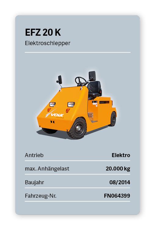 VOLK Elektroschlepper EFZ 20K Gebraucht