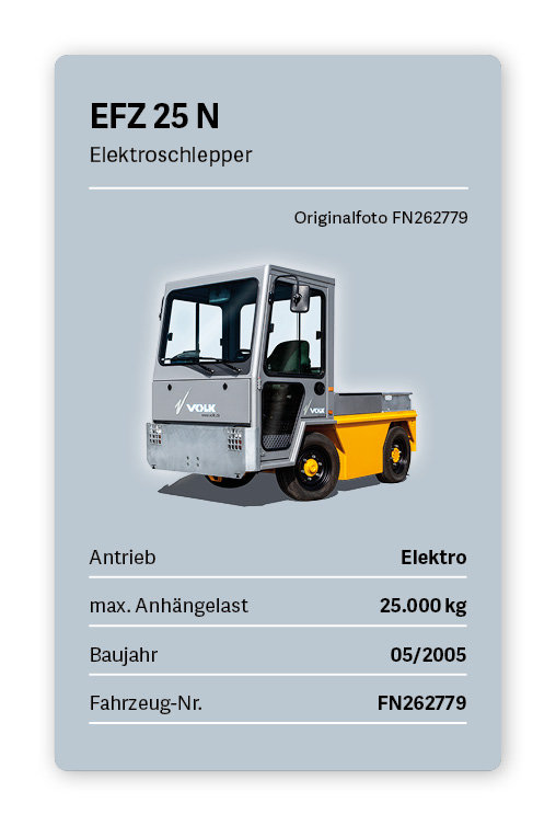 VOLK Elektroschlepper EFZ 25N Gebrauchtfahrzeug