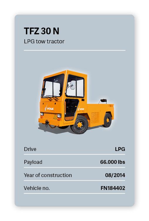 VOLK LPG tow tractor TFZ 30N Used