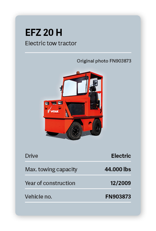 VOLK Electric Tow Tractor EFZ 20 H Used