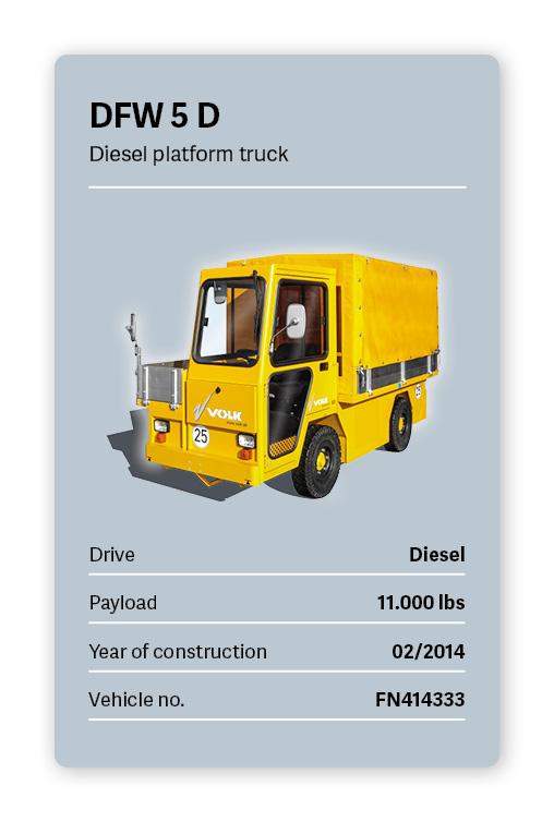 VOLK Diesel Platform Tractor DFW 5 D Used