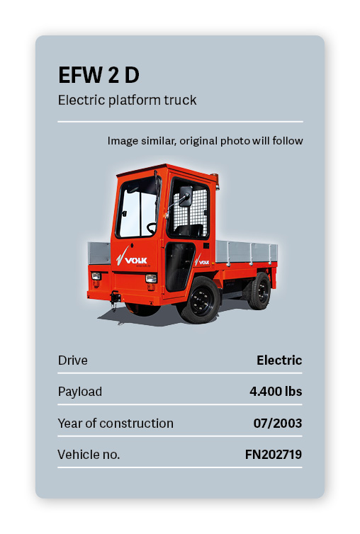 VOLK Electric Tow Tractor EFW 2D Used
