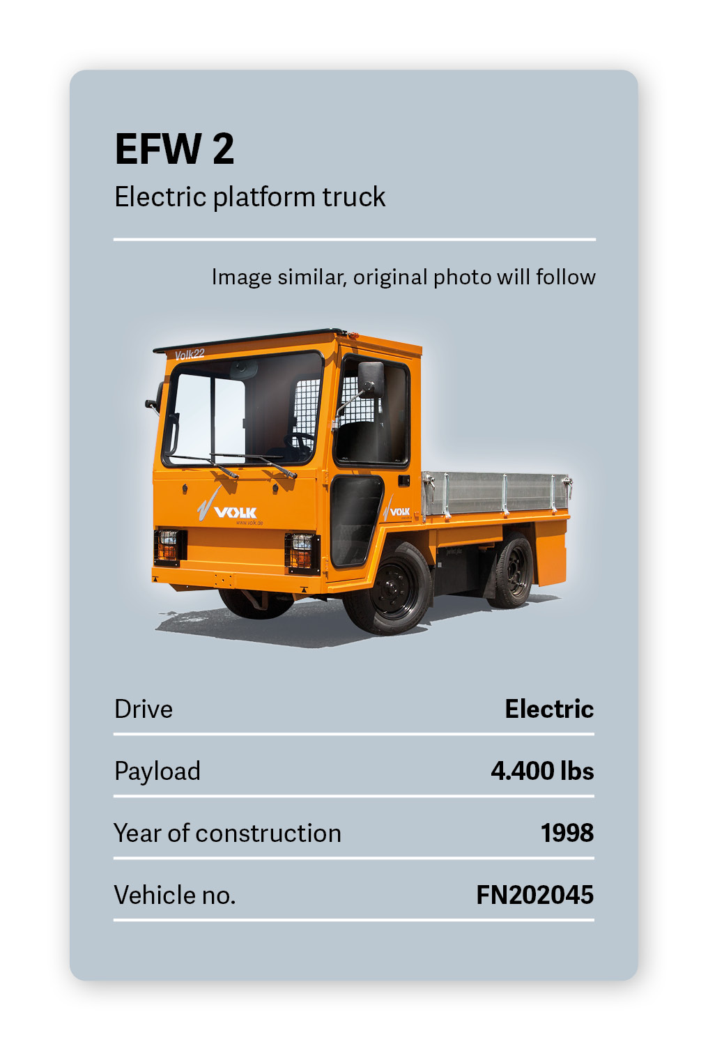 VOLK Electric Tow Tractor EFW 2 Used