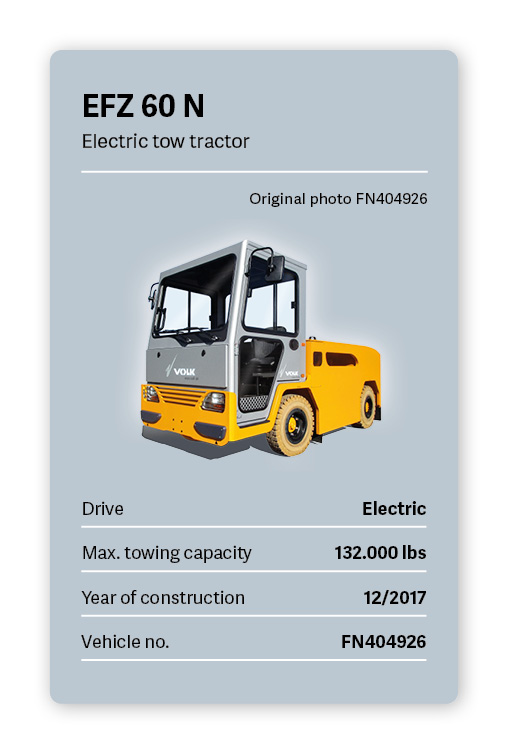 VOLK Electric Tow Tractor EFZ 60 N Used