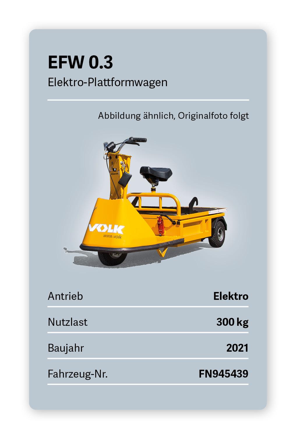 VOLK Elektro Plattformwagen EFW 0.3 Gebraucht