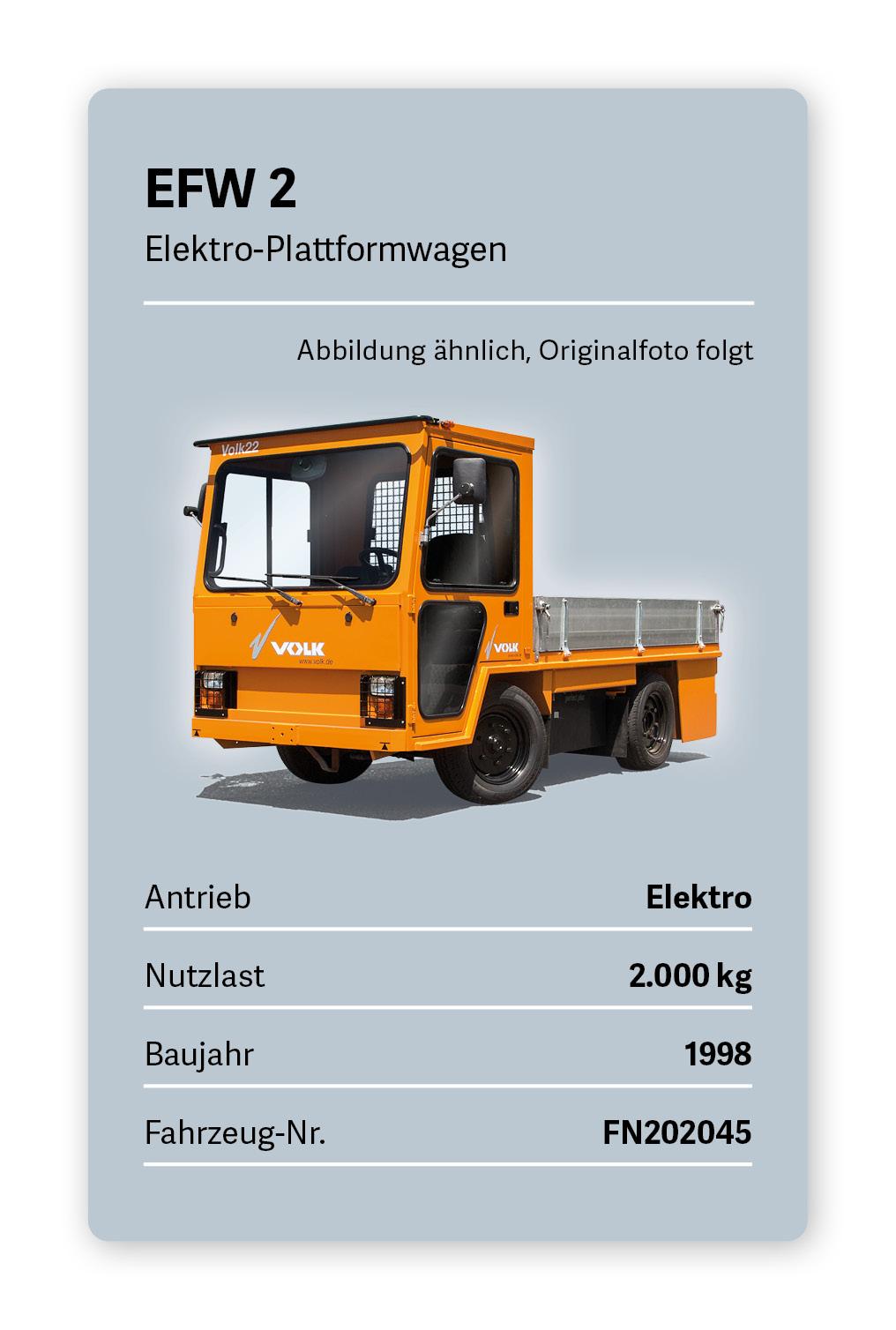 VOLK Elektro Plattformwagen EFW 2 Gebraucht