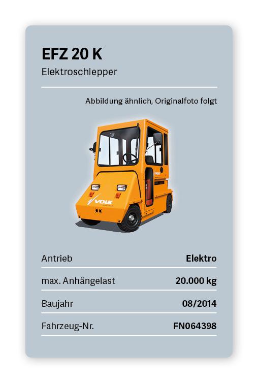 VOLK Elektroschlepper EFZ 20 K Gebraucht