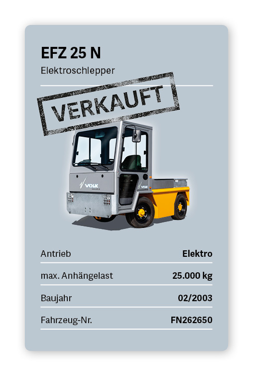 VOLK Elektroschlepper EFZ 25 N Gebraucht
