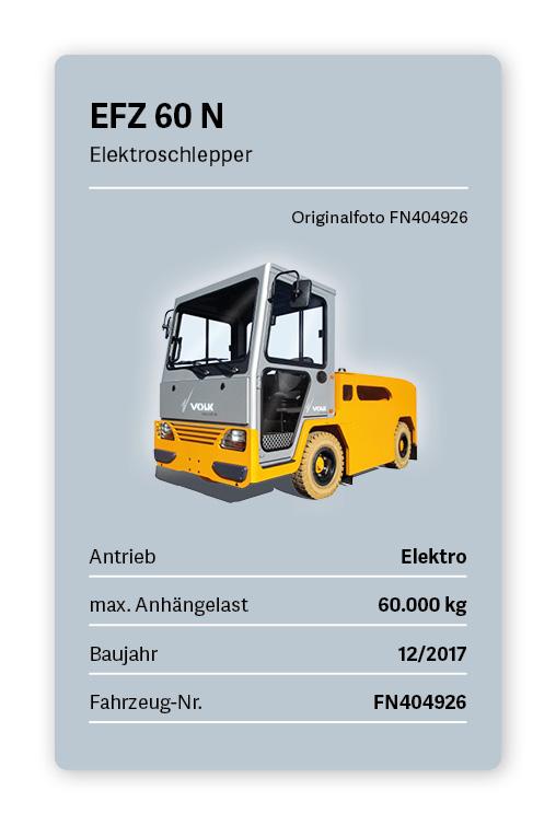 VOLK Elektroschlepper EFZ 60 N Gebraucht